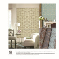 Home wallpaper Latest strippable wall coverings with damask pattern