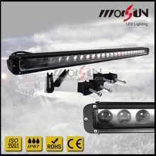 "3d lens 42"" led light bar cre 10w single row one stack work lightbar 42inch"