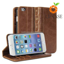 New arrival book style leather mobile phone wallet leather case for Iphone 6S and Iphone 6
