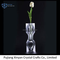 Hot Selling special design small crystal vase glass with fast delivery