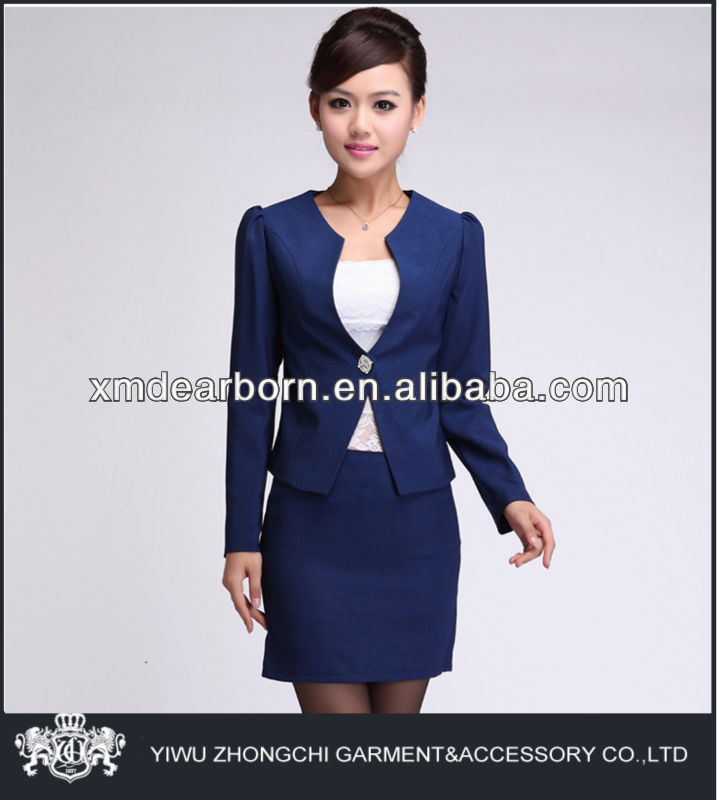 ladies blue skirt suits work
