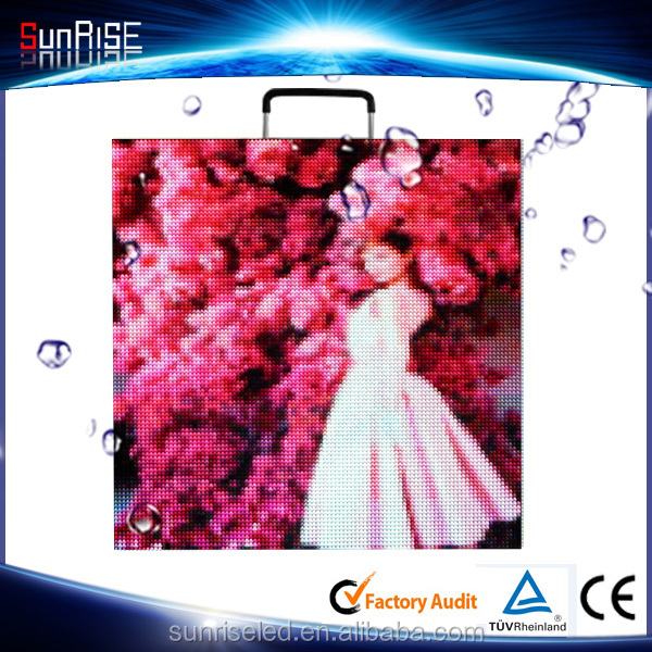 Sunrise p4 p5 p6 Indoor video led screen / outdoor stage rental led display p5 smd outdoor slim cabinet