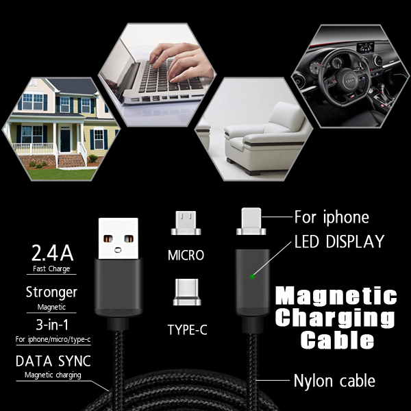 magnetic charging data android micro usb cable for samsung cable charger v8 s8 s6 s4 note 4 m600 usb 3.0 3.1 90 degrees 2m 3m