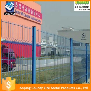 alibaba express Green coated welded metal fencing panels /Green powder bending garden fencing