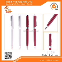 Hot Pink Laser Engraved Logo Metal Pen Va-1156