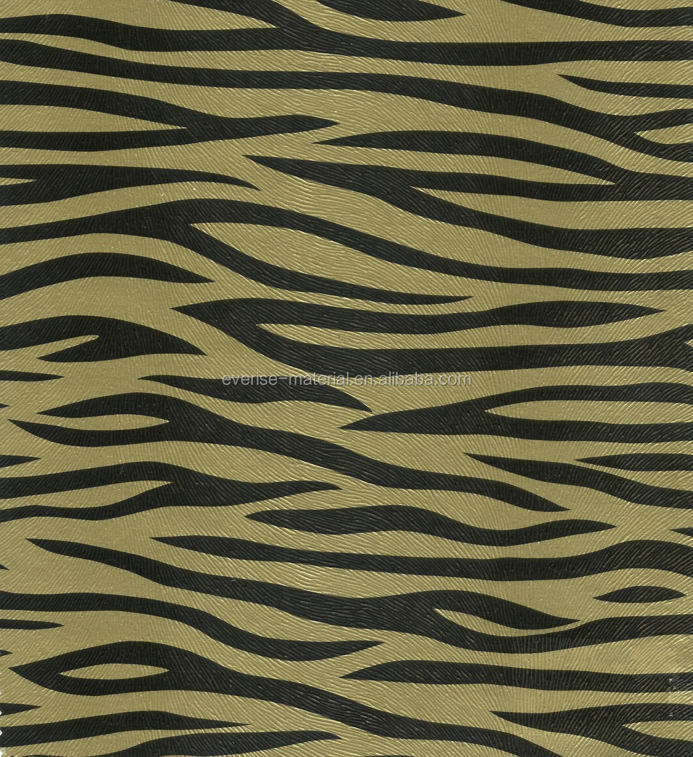 2016 Modern Zebra Pattern PVC Synthetic Leather