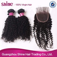 Wholesale price OEM service available curly hair and supreme remy hair weave