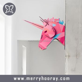 Wooden Unicorn Head Wall Decor Home Decor Modern