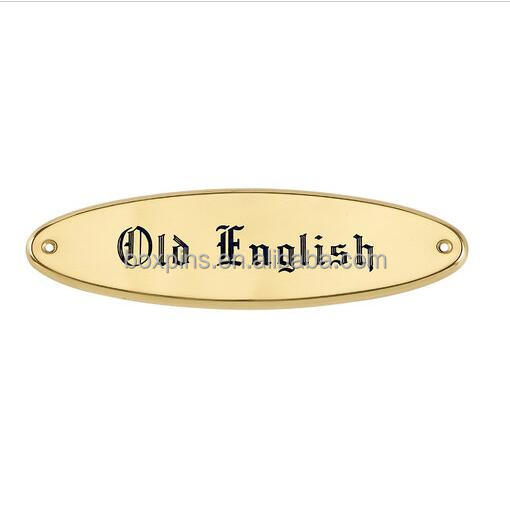 Hot selling cheap custom gold oval nameplates wholesale