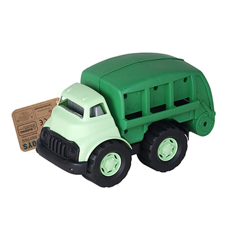 2019 new design plastic green funny car toys garbage truck toy