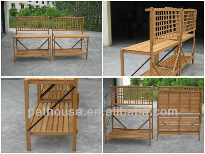 Garden Wood Tables for planter