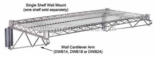 Post Wall Mount Bracket for Wire Shelving