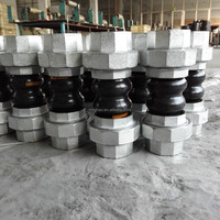 double sphere Bellow rubber expansion joint with union