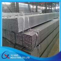 Hollow tubes / Fence galvanized square rectangular steel pipe