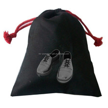 2015 new custom printed cotton drawstring shoe bag with 10oz black cotton twill fabric