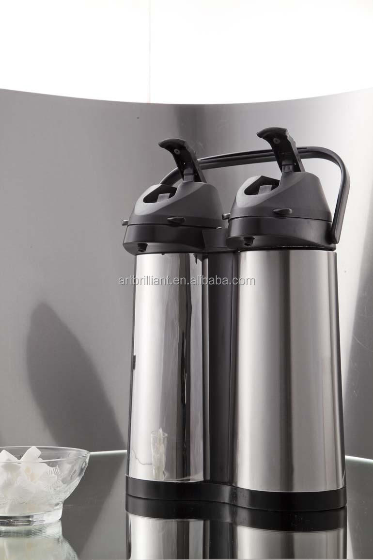 stainless steel 3.8L double thermo air pots / air pressure coffee pot