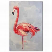 Abstract red -crowned Crane type canvas art painting for livingroom