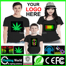 High quality Equalizer Sound Activated LED T-Shirt