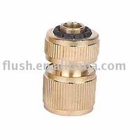 "solid brass 1/2"" 5/8"" 3/4"" 1"" barb end 100% leaking test convenient quick-click snap fit connector"