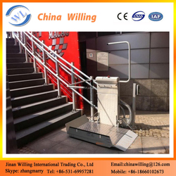 wheelchair stairway platform/removable stair handrail wheelchair lift