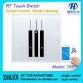 RF light&Fan Touch switch with 1way&2way&3way and glass piano panel