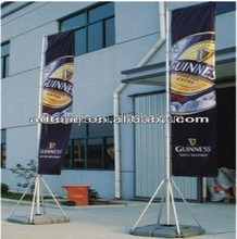 portable 5m telescopic giant stainless steel flag pole with water base