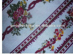 pigment and disperse thermal transfer printed bedding fabric