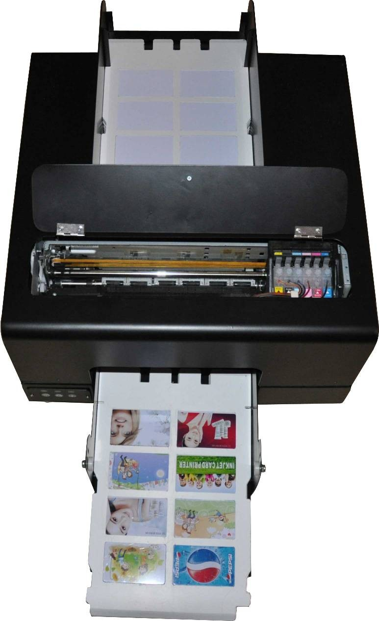 2016 new whole sales automatic digital CD DVD PVC printer with 8pcs card tray and double disk tray
