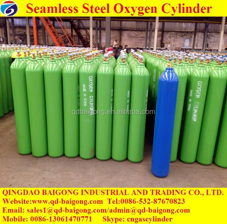 China Shandong Factory Sale Refillable Used Filling Oxygen Gas Cylinder