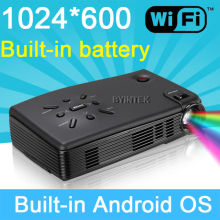 Android Wifi Pico Micro Pocket Mini Projector LED LCOS HD 3D Cinema 1080P HDMI USB Built-in Battery Video projector