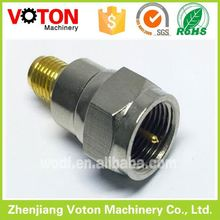 Factory price brass material SMA male straight to F female cable adapter coaxial wire to board sim card connector