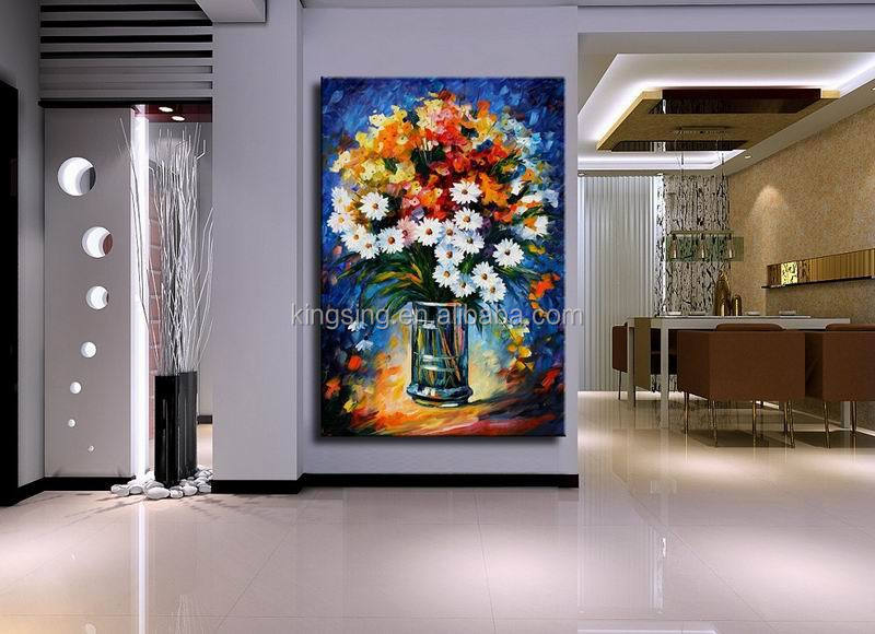 Abstract group canvas oil painting with 3D effect
