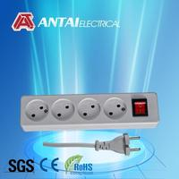 power extension lead socket with color switch