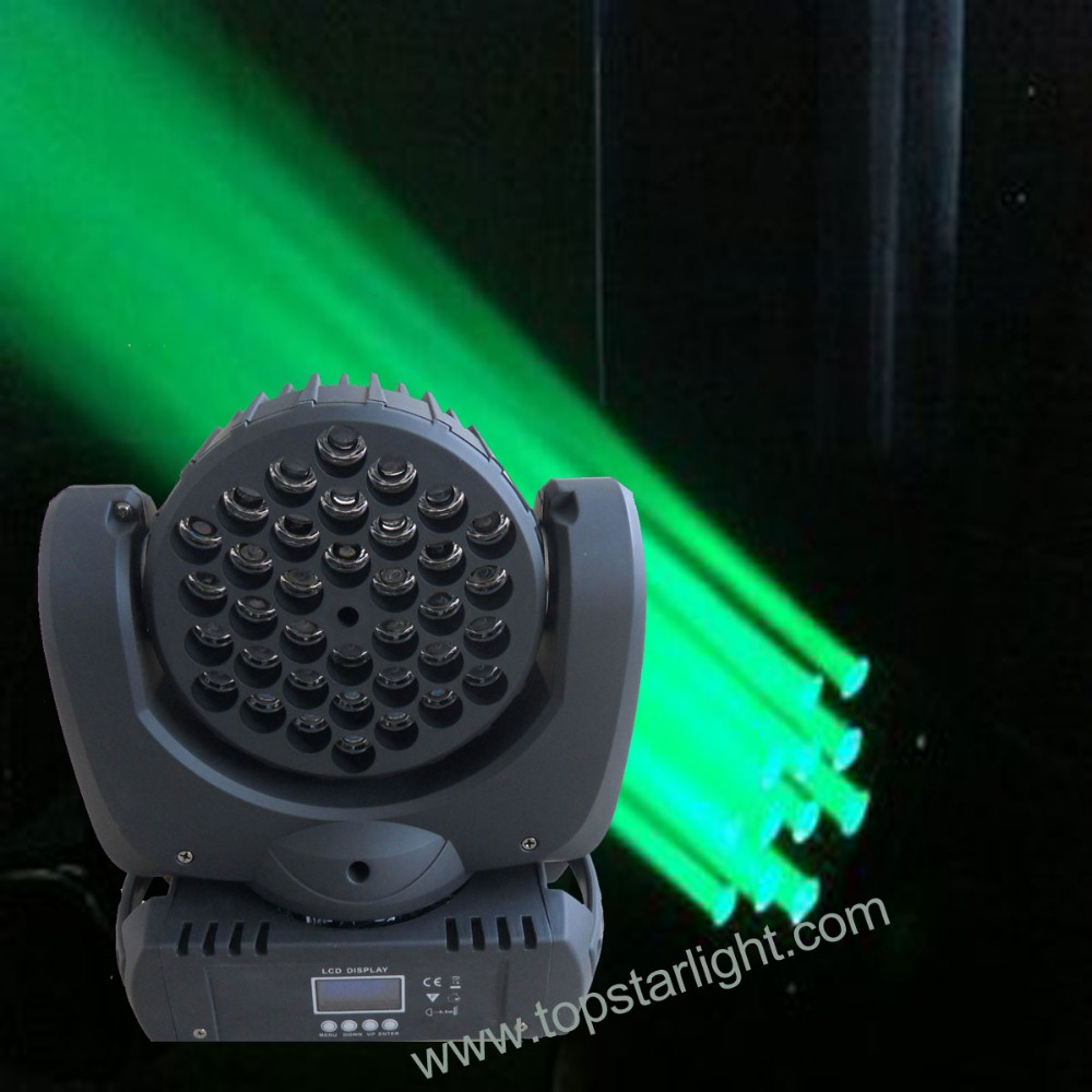 Hot selling lcd display 36 pieces <strong>3w</strong> rgb <strong>led</strong> beam moving head lights