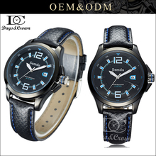 OEM logo top grade sports watch japan movt quartz watch arabic numeral leather strap watches for man gift