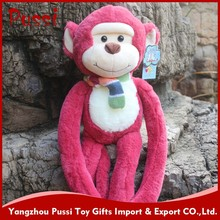 25 to 50 cm plush blue hanging long arms and legs monkey plush toy