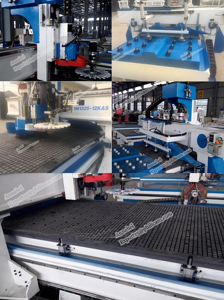 AUTO Feeding cnc router machine with round tool changer