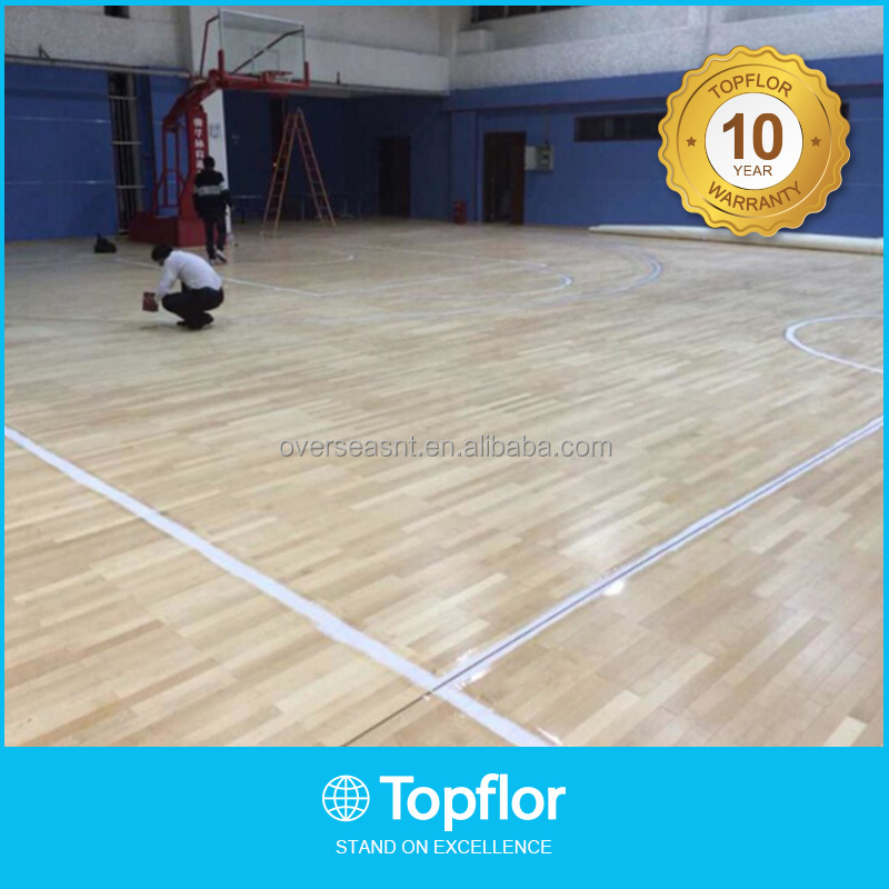 Removable indoor basketball court pvc surface flooring in stock