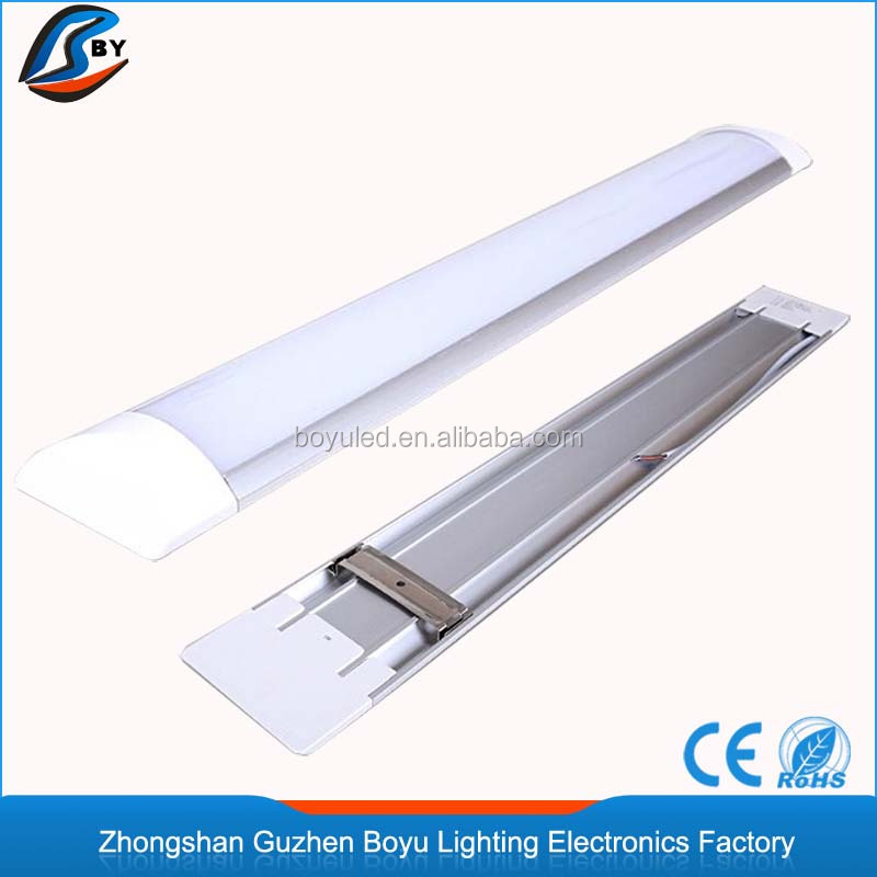 SMD2835 2ft frosted linear led batten tube light fixture 600MM made in China