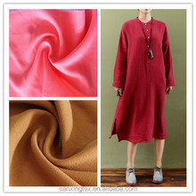 Double-decked hemp/linen fabric for lady's dress
