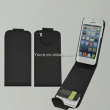 for iphone 5c leather case black flip vertical design with card slots