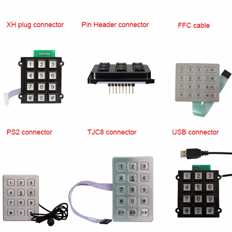 New design Keyboard for fuel dispenser IP67 keypad with great price