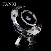 FANXI Stylish Design Shop Decoration Bare Diamond Collection Box Jewelry Display Storage Case Stand Clear Crystal Diamond Box