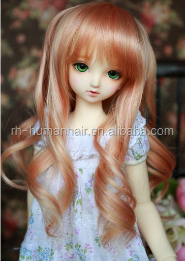 lovely bjd doll wigs wholesale cheap doll wig synthetic hair wigs for doll