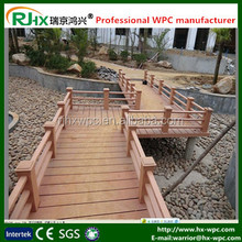 Fencing and railing together Solid and hollow waterproof WPC decking floor