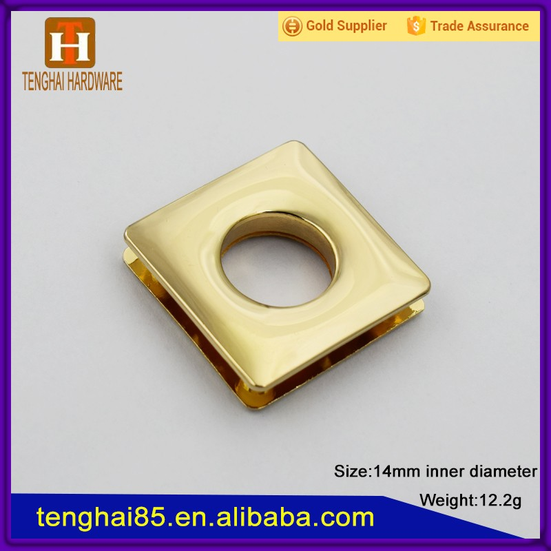 14mm Metal square eyelets rings for curtain / handbag