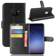 Luxury Cell Phone Flip PU Leather Wallet Phone Case for Samsung Galaxy S9