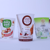 400ml IML yogurt coffee ice cream plastic cup