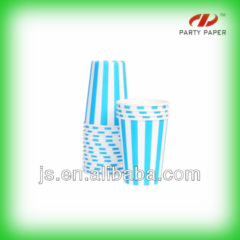 Blue Stripes Disposable Party Cups