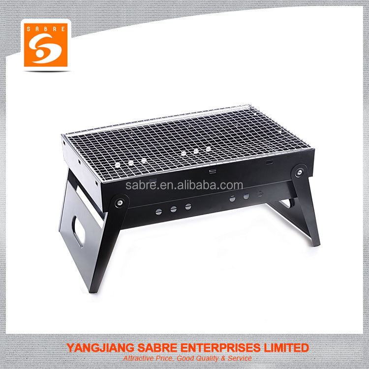 2016 High quality folding portable charcoal bbq grill for outdoor